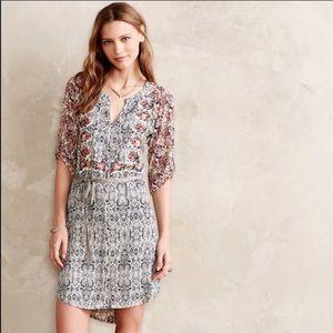 Anthropologie TINY Roses Shirt dress tunic